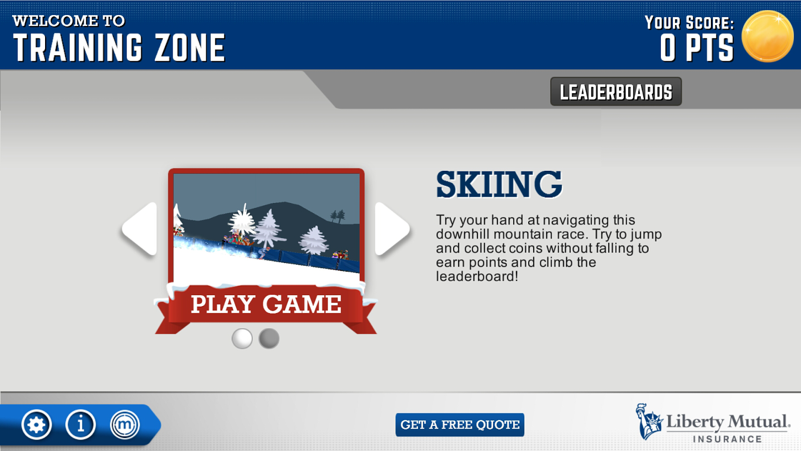 Liberty Mutual TrainingZone- screenshot