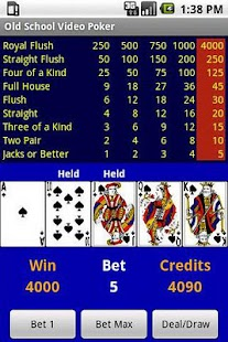 Free Old School Video Poker- screenshot thumbnail