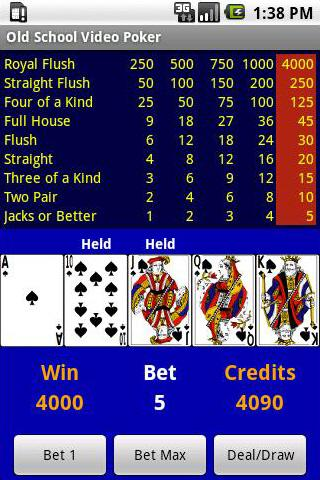 Free Old School Video Poker- screenshot