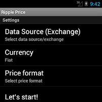Screenshot of Ripple Price