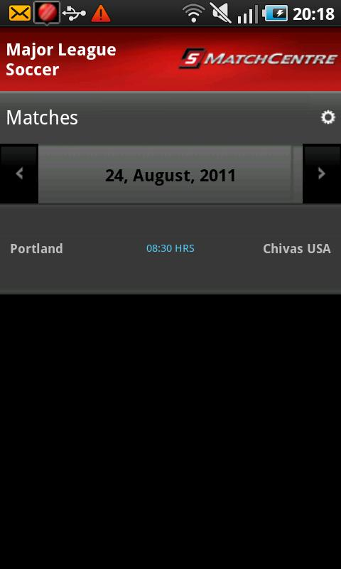 STATS MatchCentre - screenshot