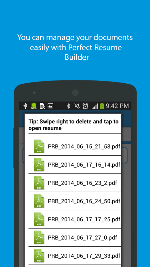 perfect resume builder   android apps on google playperfect resume builder  screenshot