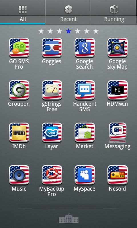 USA GO Launcher EX Theme - screenshot