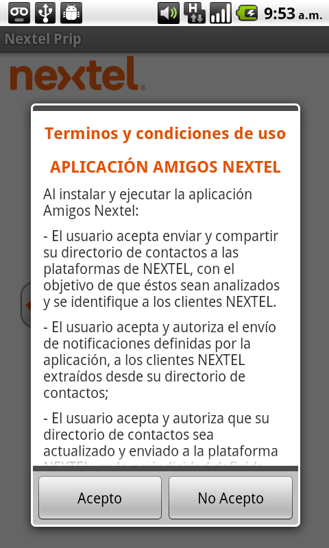 Directorio Nextel - screenshot