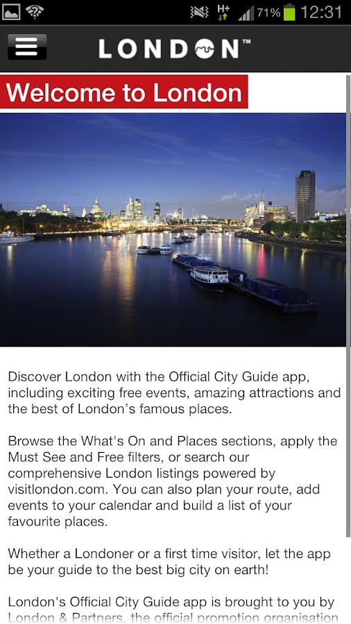 London Official City Guide - screenshot