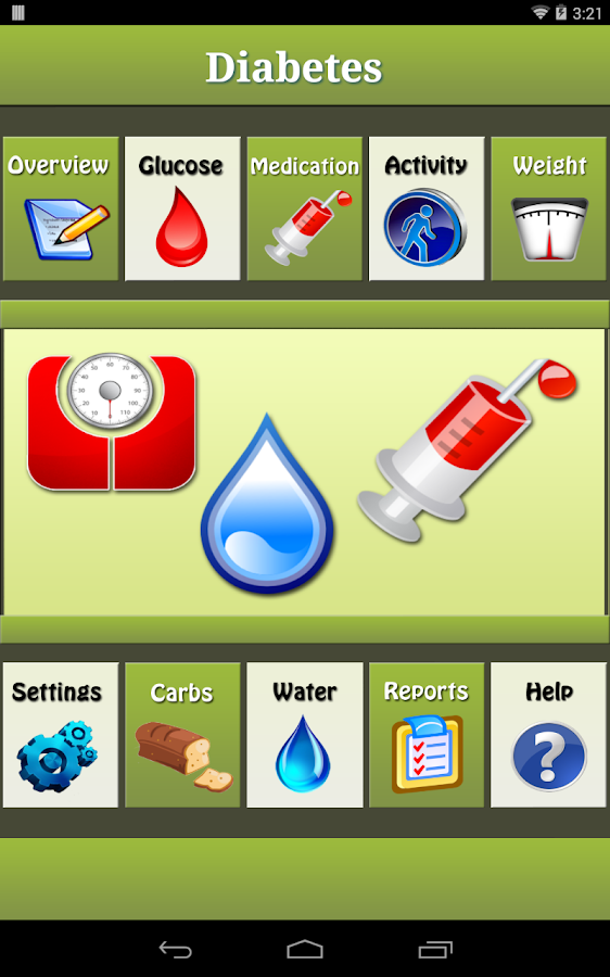Diabetes Manager for Android- screenshot