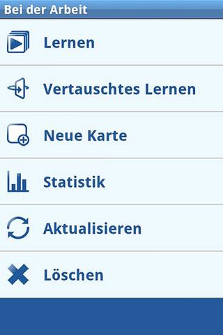 Deutsch Vokabeltrainer – Screenshot