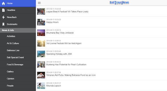Bali Travel News for Android- screenshot thumbnail