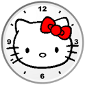 Hello Kitty Red Bow Clock Widg icon