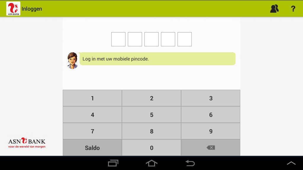 ASN Mobiel Bankieren - screenshot