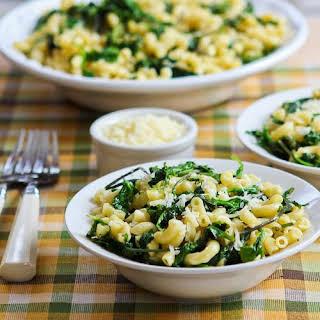 Macaroni with Greens, Lemon, and Parmesan.