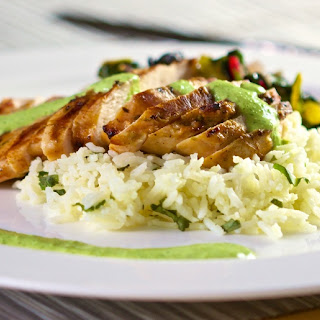 Peruvian Inspired Grilled Chicken with Roasted Jalapeno Sauce