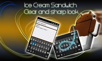 Screenshot of SlideIT IceCreamSandwich Skin