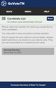 GoVoteTN- screenshot thumbnail