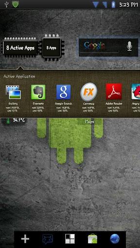 widget applicazioni attive