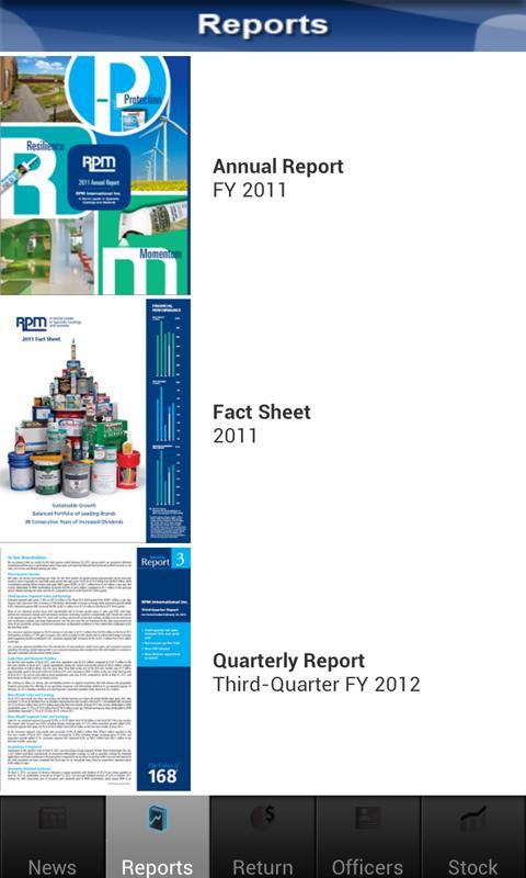 RPM Investor Relations- screenshot