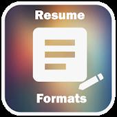 Resume Formats Download