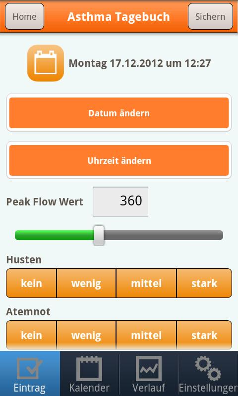 AsthmaApp - screenshot