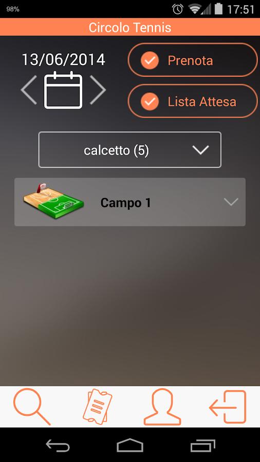 Prenota Campi - screenshot