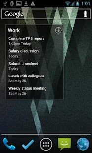 BHive Google Tasks - screenshot thumbnail