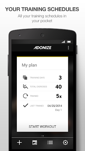 Adonize - Fitness Log