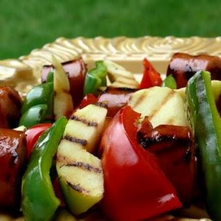 Kielbasa-Apple Kebabs