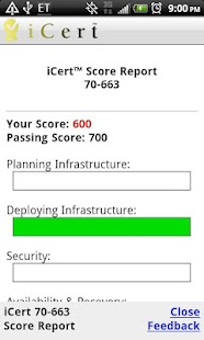 iCert 70-663 Practice Exam - screenshot thumbnail