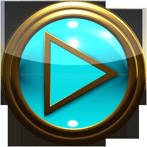 Android için gold lightblue poweramp skin Uygulamalar