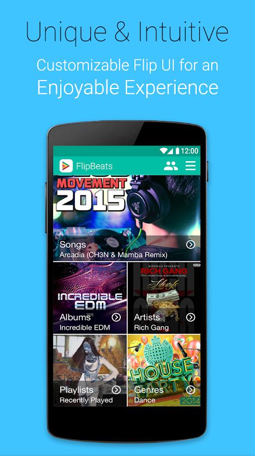 FlipBeats - Best Music Player - screenshot
