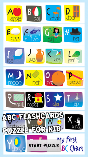 abc flashcards puzzle for kids
