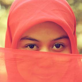 Ira by Rully Kustiwa - People Portraits of Women ( red, girl, female, eyes,  )