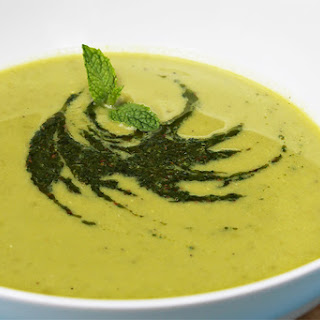 Sweet Pea Soup With Cumin-mint Coulis