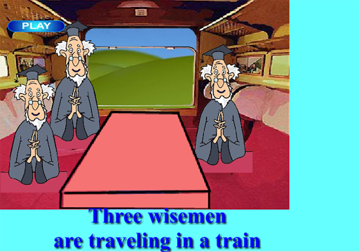 Puzzle 3 wise men in a train