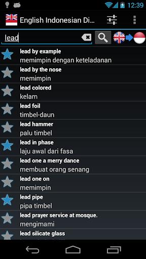 English Bahasa Dictionary