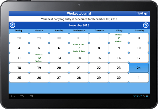 WorkoutJournal for Android