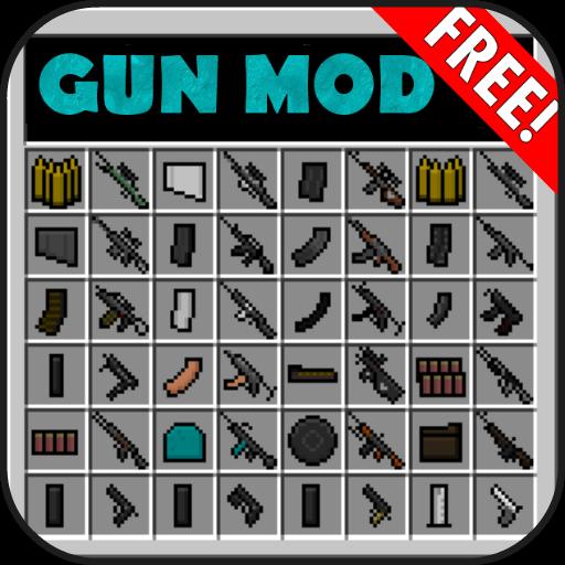 Mod with guns and machine gun