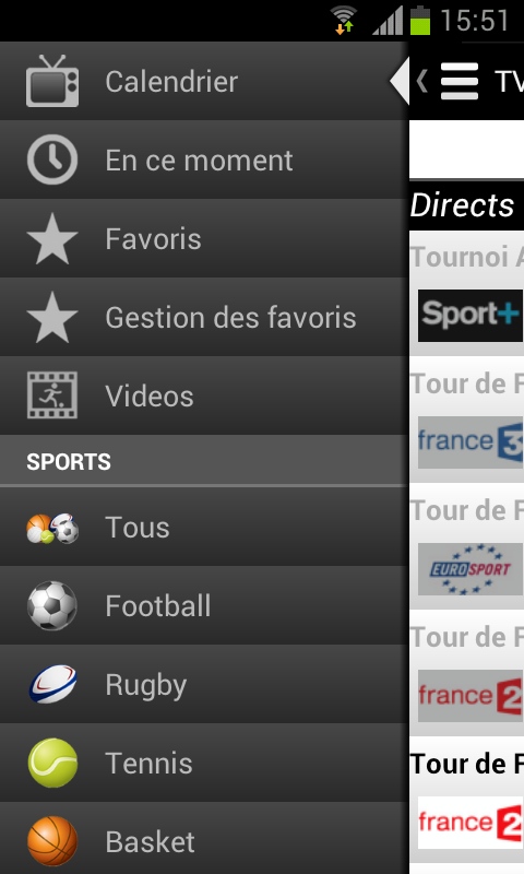 Programme TV Sports- screenshot
