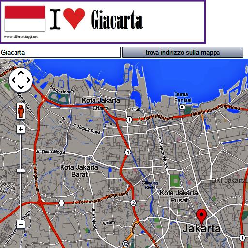 Jakarta map