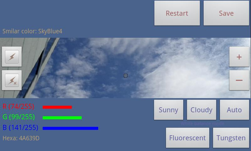 Color picker (Real time) - screenshot