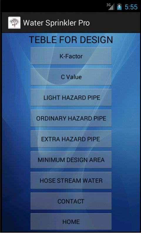 Water Sprinkler ProCalDesign- screenshot