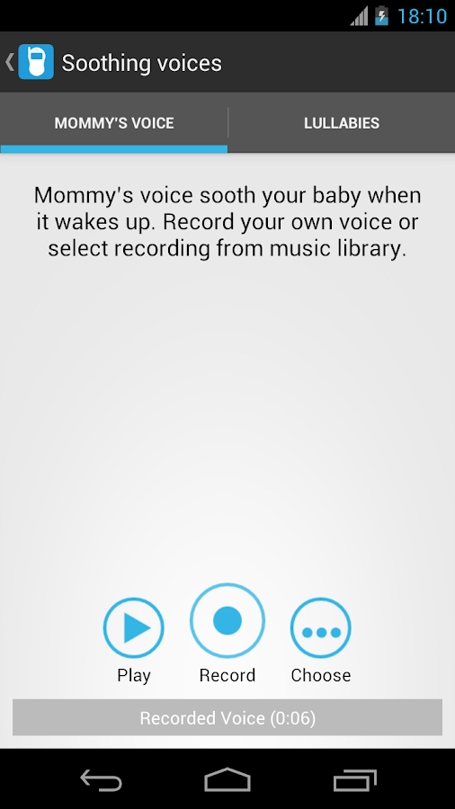 Baby Monitor & Alarm trial - screenshot