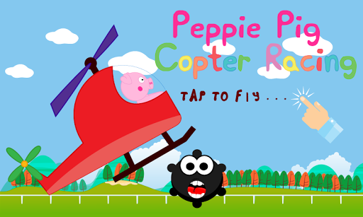 Peppie Pig Copter Racing Games