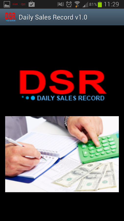 Daily Sales Record- screenshot