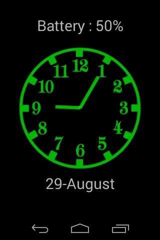 Analog night clock