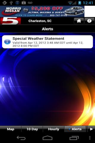 WCSC Live 5 Weather - screenshot