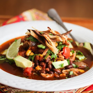 Slow Cooker Chicken Chili Tortilla Soup