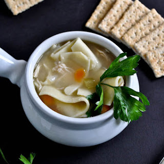 Easy Roasted Chicken Noodle Soup