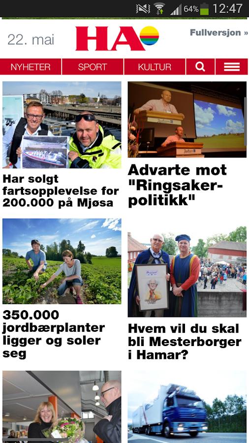 HA Nyheter - screenshot