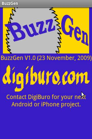 BuzzGen - screenshot