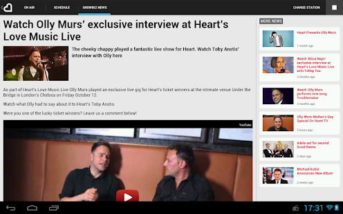 Heart Radio App - screenshot thumbnail